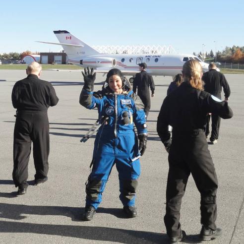 Kellie Gerardi Microgravity Flight